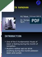 Stroke in Ramadhan