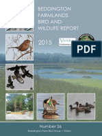 Beddington Farmlands Bird and Wildlife Report 2015