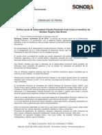 25/11/16 Política Social de Gobernadora Claudia Pavlovich Rinde Frutos en Beneficio de Familias Rogelio Díaz Brow -C.1116103