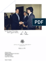 Michael L Riordan, the founder and CEO/Chairman of Gilead Sciences, meeting with Vice President Al Gore re AIDS research in 1996