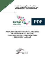 Materia Antropología de la Salud