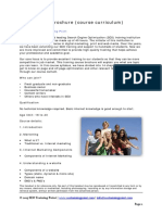 SEO Training Brochure