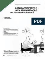 OBSERVAÇAO PARTICIPANTE