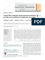 Natural Fiber Composite Design and Characterization for Limit Stress Prediction in Multiaxial Stress State