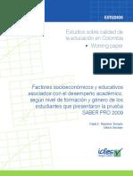 Factores socioeconomicos y educativos asociados a desempeno academico segun formacion y genero Saber Pro 2009.pdf