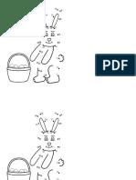 Conejo de Pascua 1ro Básicos