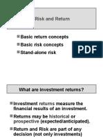 Risk Return Basics Rev
