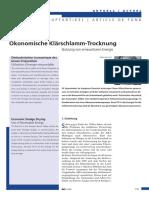 2006 03 02 Gwa Oekonomische Klärschlamm-Trocknung
