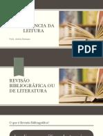 Revisão Bibliográfica ou de Literatura