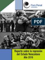 Foro Penal Registro 2732 Arrestos Politicos en 2016