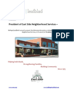 East Side Neighborhood Services - President - Executive Profile
