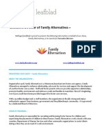 Family Alternatives - Executive Director - Position Profile