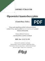 Chaucer Geoffrey - Opowieści Kanterberyjskie