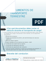 Documentos de Transporte Terrestre