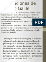 Aportaciones de Galileo Galilei