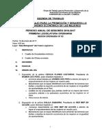 GT AUTOMÍA ECONÓMICA - AGENDA TERCERA SESIÓN
