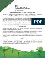 Resolución Directiva Número 012 de 2016
