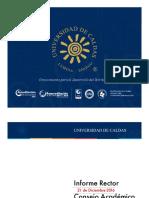 Informe rector al consejo Académico 2 de Diciembre 2016