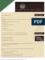 Boletín, Septiembre 2012