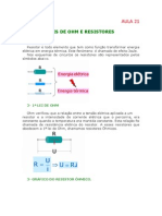 Física - Aula 21 - Leis de OHM e resistores