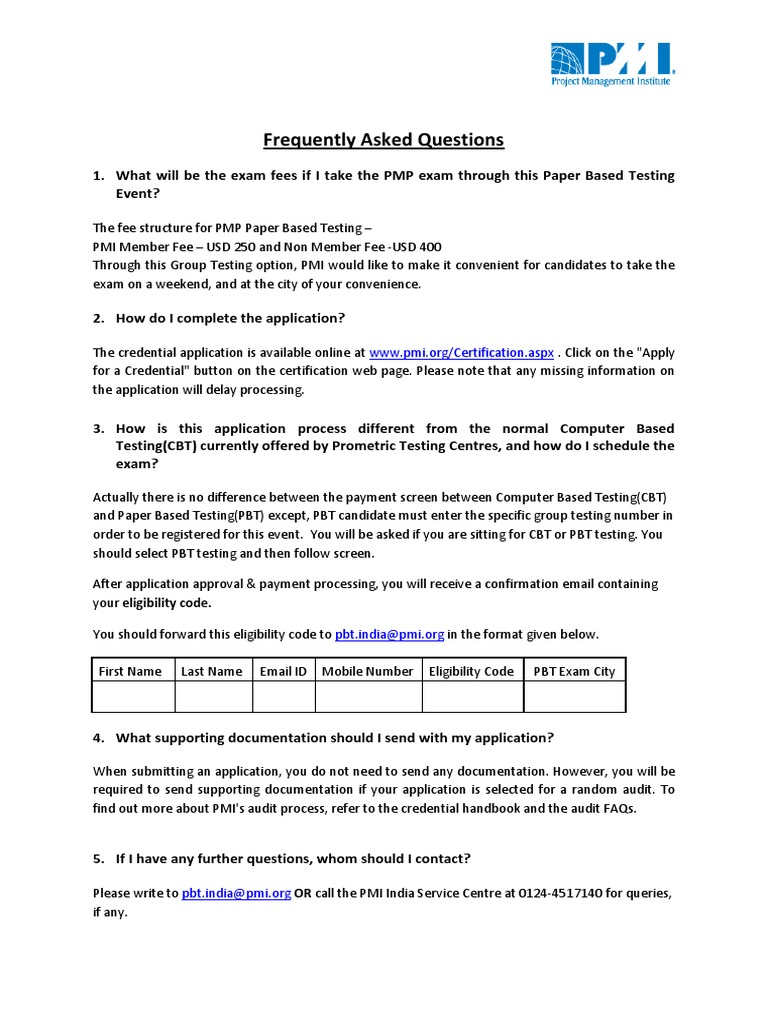Frequently asked questions pbt project management professional frequently asked questions pbt project management professional test assessment xflitez Choice Image