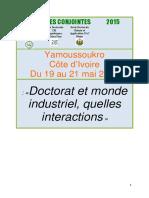 Liste Des R--sum--s Pour Les Doctoriales 2015