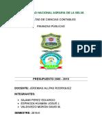 Presupuesto Publico 2000-2016