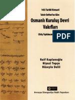 Kirmasti Defterine Göre Osmanlı Kuruluş Devri Vakıfları; R.Kaplanoğlu-N.Topçu-H.Delil