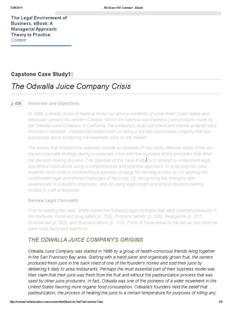 odwalla inc case study