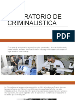 Laboratorio de Criminalistica