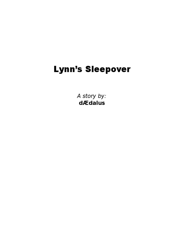 Lynn's Sleepover v1 | Tickling | Nature