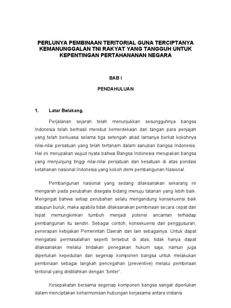 contoh essay serbuan teritorial