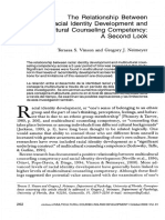 The Ralationship Between Racial Identity Development and Multicultural Couseling Competency. a Second Look