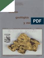 El Oro en España. Boletín Geológico y Minero