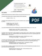 Ficha de Trabalho (Pronominalização Regras)