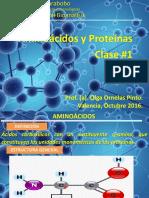 CLASE# 1 y 2 2016 Proteinas - Aminoacidos