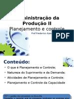 Adm.produção II - Fred Alvim PlanejamentoControle
