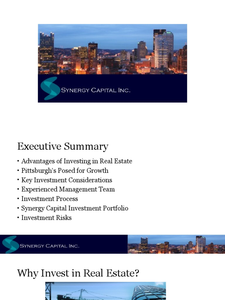 real estate investment companies pittsburgh