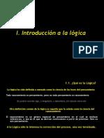 1. Introducción a La Lógica I