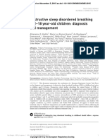 Apnea Obstructiva Del Sueño. Pediatria-2015
