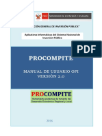 Manual Procompite OPI-2da Version