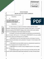 Las Vegas Sands Nevada Gaming Control Board settlement - May 19, 2016
