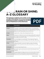 Come Rain or Shine Glossary