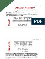 EXEMPLO ALAVANCAGEM FINANCEIRA