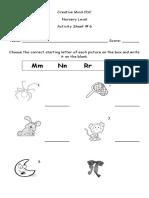 Activity Sheet No. 6