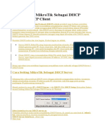 36626Cara Setting MikroTik Sebagai DHCP Server