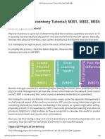 SAP Physical Inventory Tutorial_ MI01, MI02, MI04, MI07