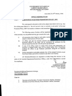 Amendment in Revised Promotion Policy 2007