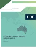 Govt of Aust - Aid Program Performance Report 2015-2016 Fiji - Sept 2016