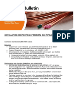 Tech Bulletin Installation and Testing of Medical Gas Pipeline Systems